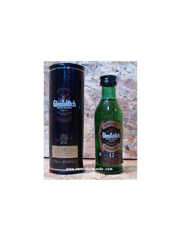 MINIATURA WHISKY GLENFIDICH 12 AÑOS  5 CL