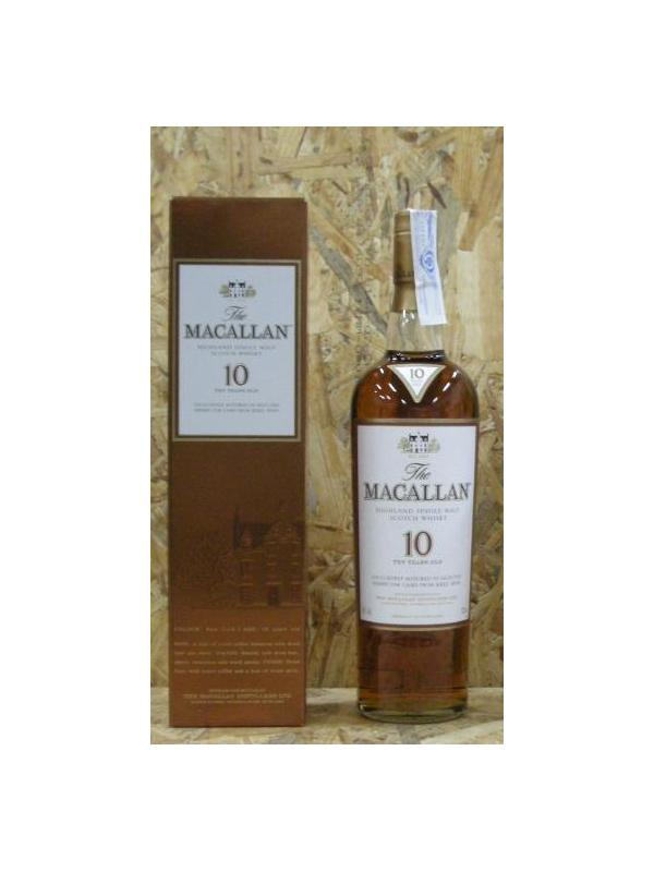 WHISKY MACALLAN 10 SERRY OAK HIGHLAND SINGLE MALT 70 CL