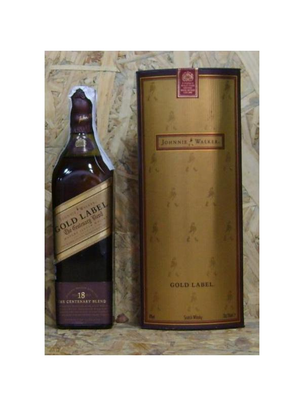 PETACA WHISKY JHONNIE WALKER GOLD LABEL 20 CL - WHISKY ESCOCES DE 18 AÑOS EN FORMATO PETACA