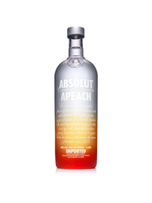 VODKA ABSOLUT APEACH ( MELOCOTON) 1 LITRO