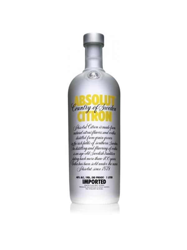 VODKA ABSOLUT CITRON ( LIMON ) 1 LITRO