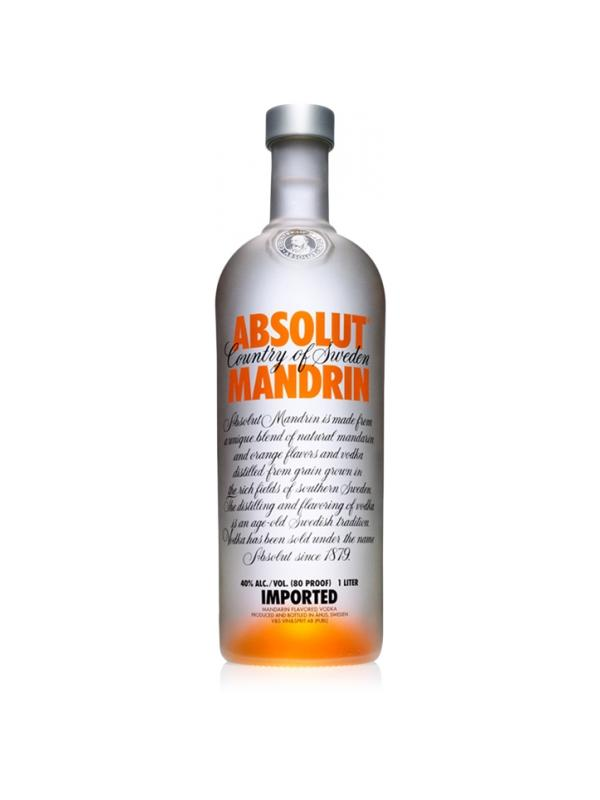 VODKA ABSOLUT MANDARIN 1 LITRO