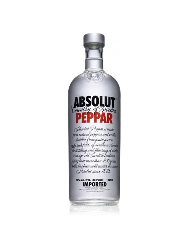 VODKA ABSOLUT PEPPAR ( PIMIENTA) 1L
