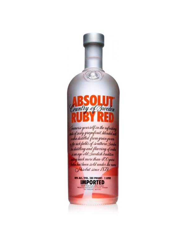 VODKA ABSOLUT RED RUBY ( POMELO ) 1 L
