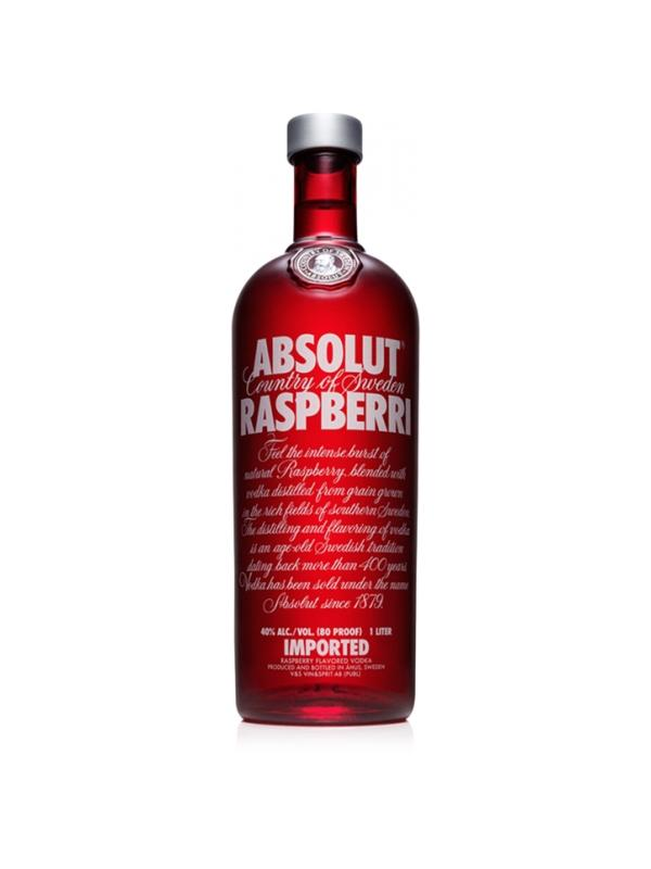 VODKA ABSOLUT RASPBERRY ( FRAMBUESA ) 1L