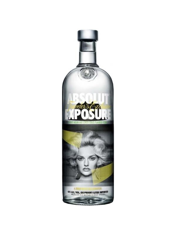 VODKA ABSOLUT EXPOSURE 1 L - VODKA ABSOLUT EXPOSURE 1 L HONEY MELON AND LEMON GRASS FLAVORED 