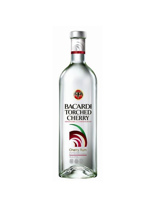 RON BACARDI TORCHED CHERRY - RON, RUM, RHUM BACARDI TORCHED CHERRY Ron con sabor a cereza de Barbados con la suavidad de la planta de aloe vera Graduación 32 % Botella 70 cl