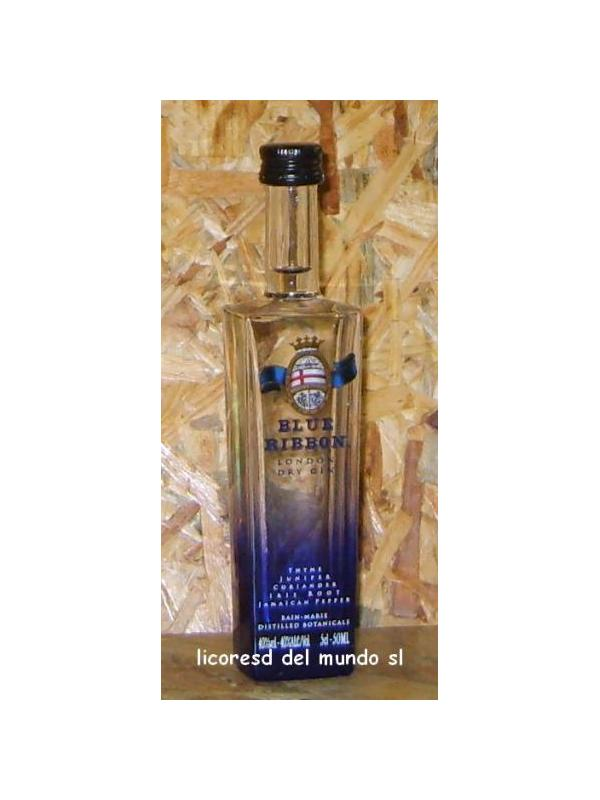 MINIATURA GIN BLUE RIBBON 5 CL
