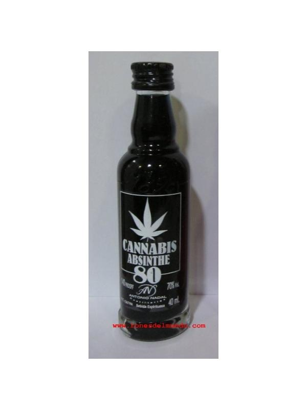 MINIATURA CANNABIS ABSINTHE 80 NEGRA