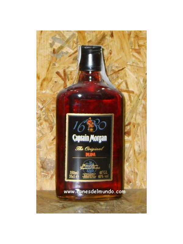 PETACA RON CAPTAIN MORGAN BLACK LABEL 35 CL - PETACA DE RON CON CAPACIDAD DE 35 CL