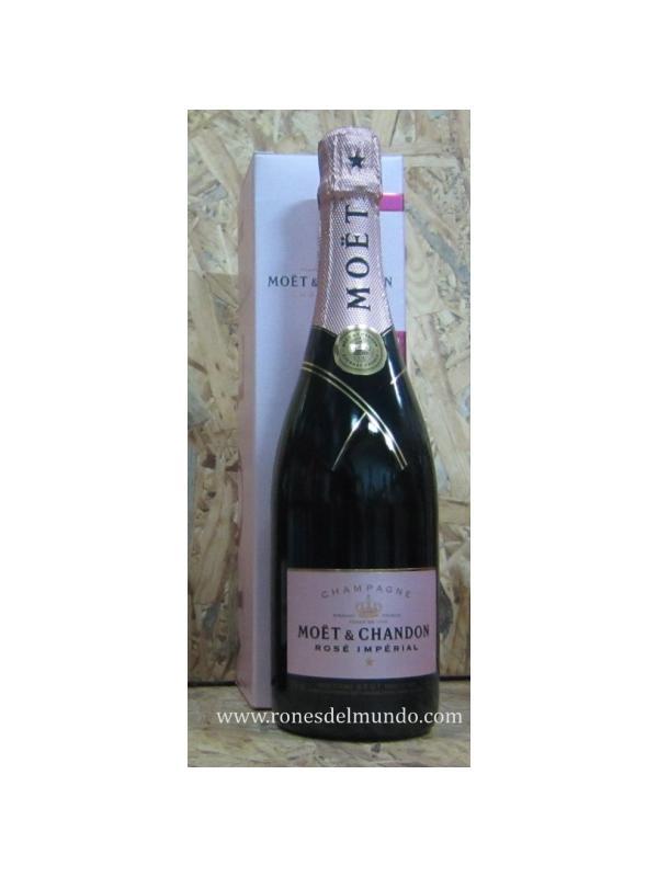CHAMPAGNE MOET CHANDON ROSE IMPERIAL - Moet Chandon brut, indiscutiblemente es un excelente champagne, de burbuja fina y sedosa, seco a tope y altamente agradable para consumir, aunque dado su elevado precio, mejor es moderarse. De las no muchas marcas de este tipo de vinos que he consumido, es la más conocida y probablemente la mejor comercializada