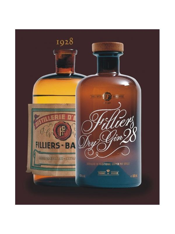 GINEBRA FILLIERS DRY GIN 50 CL ( BELGICA )