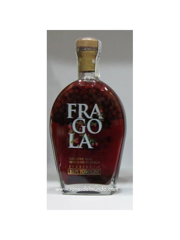 FRAGOLA - LICOR DE FRESAS SILVESTRES 24 % - FRAGOLA - LICOR DE FRESAS SILVESTRES 24 % Licor Italiano de Fresas silvestres, este licor lleva dentro de la botella pequeñas fresas, que cuando se vierte caen en el vaso y luego se pueden comer