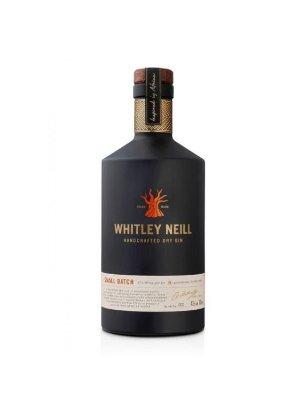 GINEBRA WHITLEY NEILL GIN - La ginebra Whitley Neill nace fruto del empeño de su fundador Johnny Neill, perteneciente a una reputada saga de destiladores británicos, que se propuso crear una ginebra que aunara la tradición británica con la esencia de África, una de sus pasiones y tierra de su mujer.