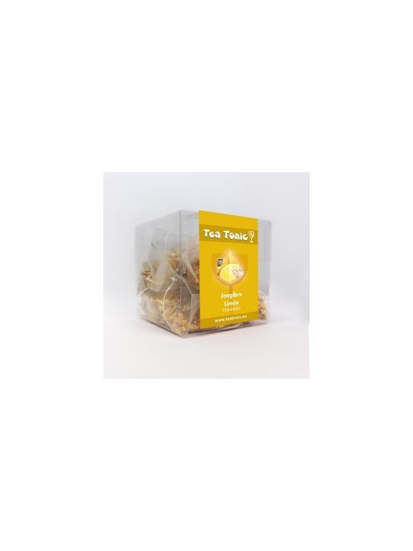 TEA TONIC  JENGIBRE LIMÓN - TEA TONIC  JENGIBRE LIMÓN El tea tonic Fresh le proporcionara una mezcla éxotica al paladar. Se presenta en estuches de 15 piramides