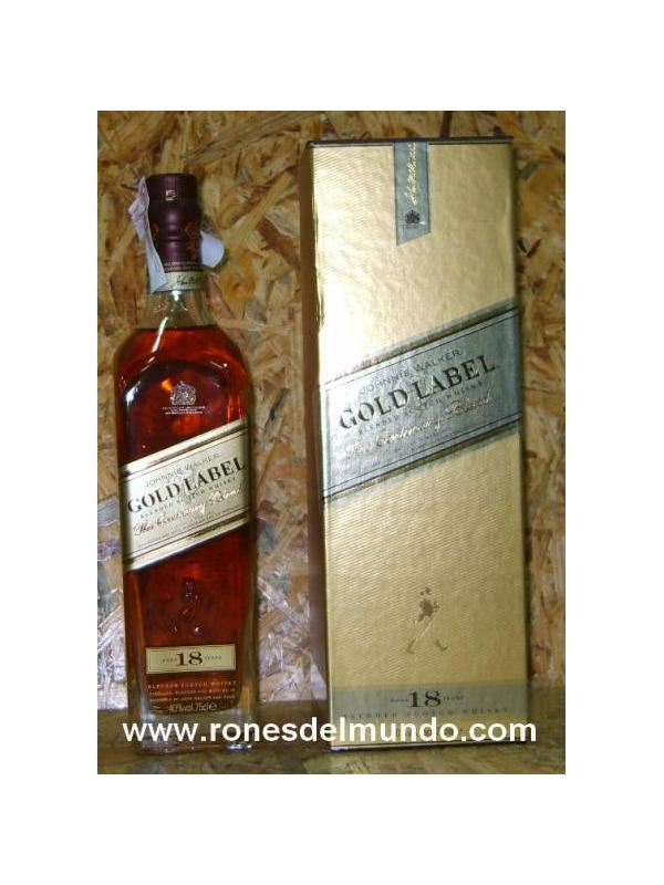 WHISKY JHONNIE WAKER GOLD LABEL 18 AÑOS
