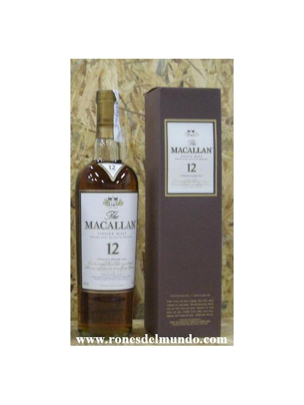 WHISKY MACALLAN 12 SINGLE MALT
