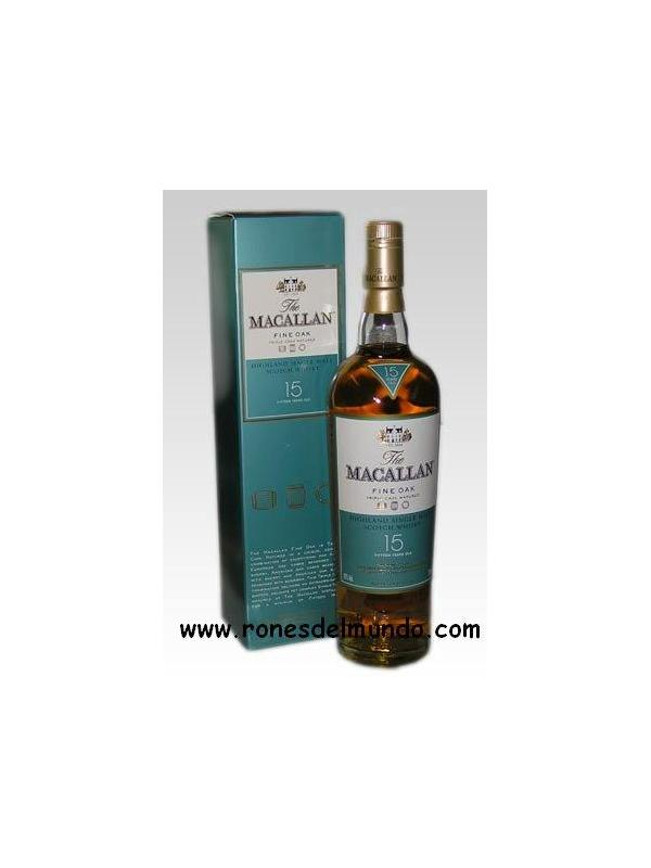 WHISKY MACALLAN 15 AÑOS FINE OAK