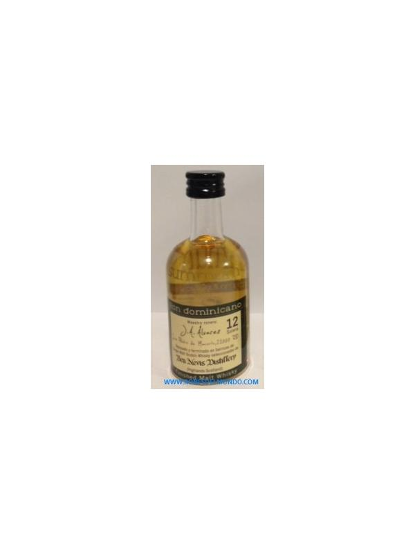 MINIATURA RON SUMMUM 12 SOLERA FINISHED MALT WHISKY - MINIATURA RON SUMMUM 12 SOLERA FINISHED MALT WHISKY
