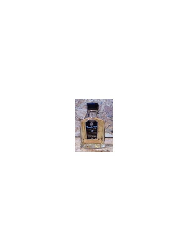 MINIATURA WHISKY CANADIAN CLUB PLASTICO - MINIATURA WHISKY CANADIAN CLUB 5 CL CRISTAL