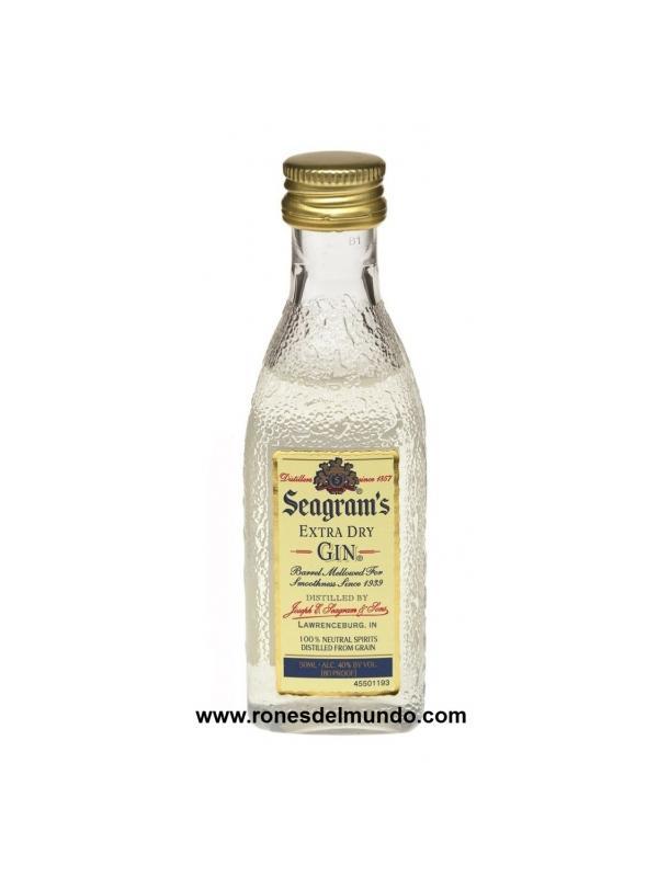 MINIATURA SEAGRAMS 5 CL PLASTICO