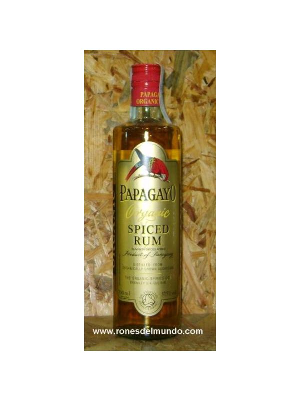 RON PAPAGAYO SPICED RHUM ORGANIC - Ron BIOPapagayo Especiado (70cl) Paraguay OTISA. Grupo de más de 800 pequeños productores certificados que cultivan la caña de azúcar ecológica. 