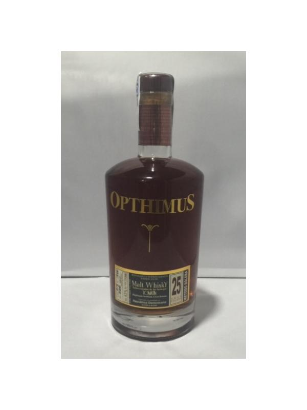 RON OPTHIMUS 25 AÑOS MALT WHISKY TOMATIN - Ron de Republica Dominicana de 25 años reposado y terminado en barricas de whisky de malta de la bodegas Tomatin, Highlands scotland