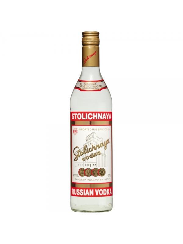 VODKA STOLINAYA 1L - El VodkaStolichnaya fue creado originalmente en 1953 en la destilería Cristall en Moscú. Desde 2001 la marca Stolichnaya fue objeto de disputas entre la compáñía