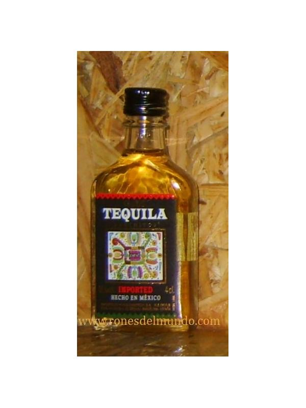 MINIATURA TEQUILA RANCHITOS GOLD 4 CL