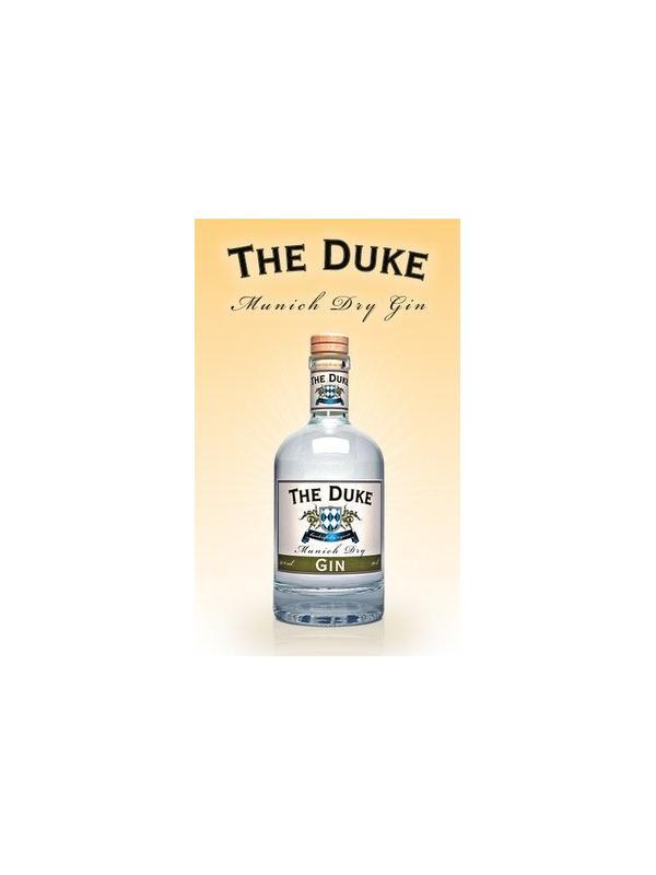 GINEBRA THE DUKE - Esta ginebra The Duke es procedente de Alemania, destilada dos veces y envasada a mano, entre sus ingredientes esta : La piel de limón, raíz de angélica, flores de lanvanda, raíz de jengibre, cilandro, flor de naranja, pimienta cubeta y otras especias conforman un total de 13 especias para realizar esta ginebra.