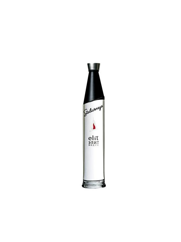 VODKA STOLICHNAYA ELIT - LA GAMA MAS ALTA DE LA MARCA RUSA Transparente en apariencia, fresca y atractivo en la nariz. Un sabor suave y armonioso con notas limpias vodka equilibrado con un bien redondeado, acabado liso
