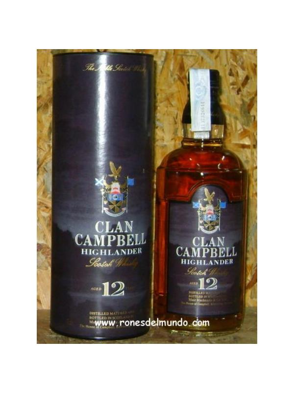 WHISKY CLAN CAMPBELL 12 AÑOS
