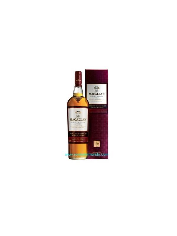 Whisky Macallan Makers Edition 70 cl - hisky Maker's Edition (42.8%)  Un olorcillo y usted sabrán que Whisky Maker's Edition es un animal diferente completamente. Muy aceitoso