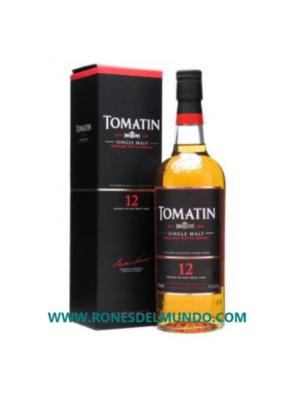 WHISKY TOMATIN 12 AÑOS - WHISKY ESCOCES TOMATIN 12 AÑOS