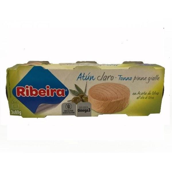 ATUN CLARO EN ACEITE DE OLIVA PACK 3 LATAS