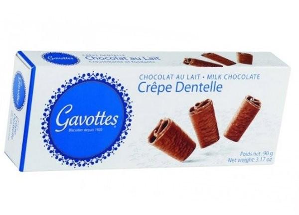 GAVOTTES CREPE DENTELLE CHOCOLAT AU LAIT