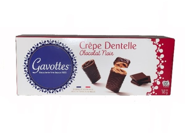 GAVOTTES CREPE DENTELLE CHOCOLAT NAIR