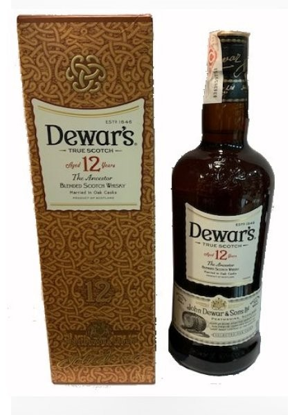 WHISKY DEWARS WHITE LABEL 12 AÑOS 1 L