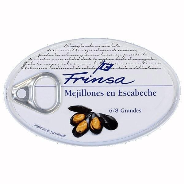 MEJILLONES EN ESCABECHE 6/8 FRINSA