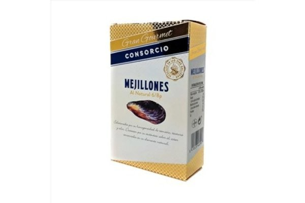 CONSORCIO MEJILLONES 6/8 PIEZAS GRAN GOURMET 111G