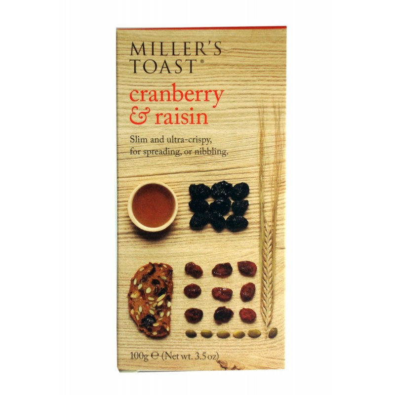 MILLERS TOAST CRANBERRY AND RAISSIN