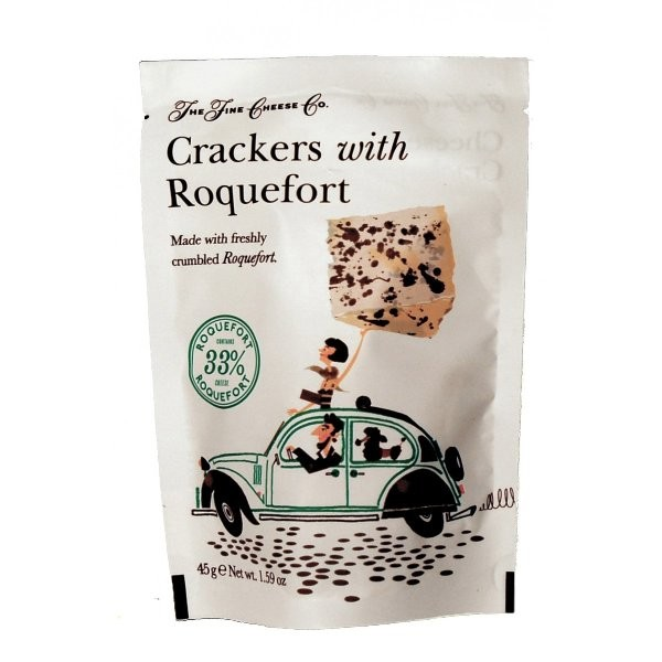 THE FINE CHEESE CO CRACKERS WITH ROQUEFORT