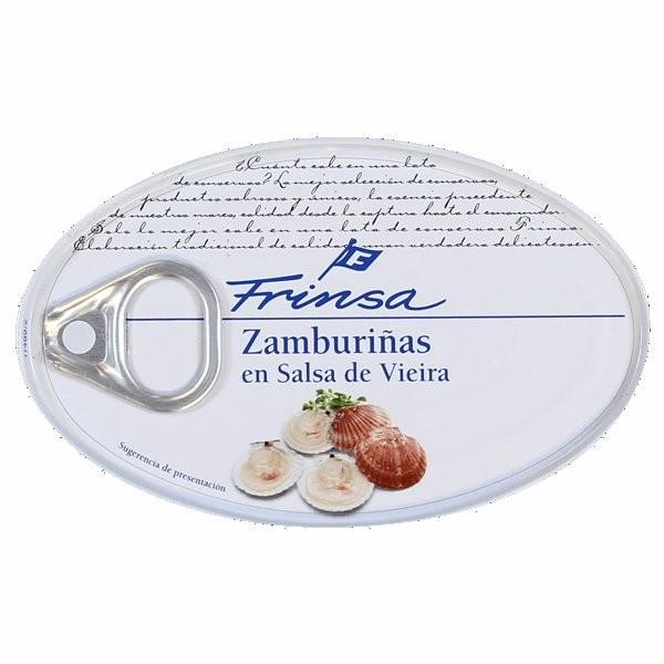 ZAMBURIAÑAS EN SALSA DE VIEIRA